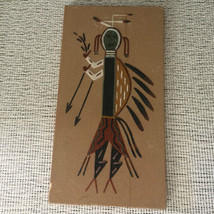 """Navajo Sand Art Painting Signed by Marie Billie New Mexico 6"""" x 11.5"""" - $27.93"""