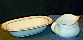 Cumberland Stoneware Mayblossom Gravy Bowl & Serving Pitcher AA-192035-E  Vintag image 3