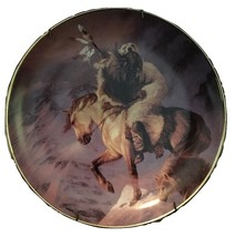 Hermon Adams SPIRIT OF THE NORTH WIND Indian FRANKLIN MINT Plate W/Certi... - $26.72