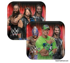 WWE PLATES Lunch Smash Wrestling Party 8PCS ~ Birthday Decoration Boy Di... - $5.89