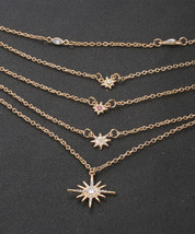 New Fashion Drop 7 Star Choker Necklace Gold Star Necklace - $7.99