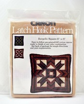 "Vintage 1977 Caron Bargello Square Latch Hook Canvas Pattern 27"" x 27"" - $28.45"