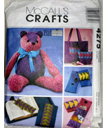 McCalls Crafts, Sewing Pattern 4275 Stuffed Bear, Book Bag, Book Cover, ... - $6.00