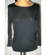 New Womens 8 NWT Designer Italy Emilio Pucci 42 Black Long Sleeve Top La... - $1,849.00