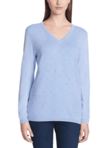 DKNY Jeans Ladies' Rhinestone Embellished Sweater, French Blue, Medium - $12.86