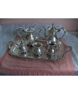 Vintage Amston Fine Silver Plate 7 Pc Coffee Tea Service 2045 Raised Des... - $569.25