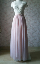 Sleeveless Crop Lace Long Tulle Skirt Pink Rustic Bridesmaid Dresses Plus Size image 7