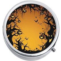 Scary Night Halloween Medicine Vitamin Compact Pill Box - $9.78