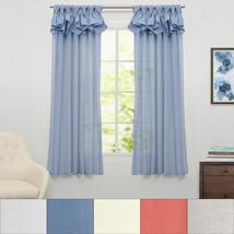 "Breeze Semi Sheer Window Curtain Single Panel 63""x54"" - $23.29"