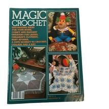 Vintage Magic Crochet Tricot #28 Pattern Magazine Clown Monkey Kids Clothes - $16.44