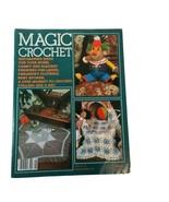 Vintage Magic Crochet Tricot #28 Pattern Magazine Clown Monkey Kids Clothes - $11.56