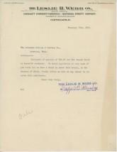 1905 Leslie H. Webb Co. Letterhead Cleveland Ohio OH Insurance Agent Cas... - $5.00