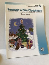 Famous And Fun Christmas Alfred Piano Book 2 Elementary Beginner - $9.74