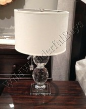 Pottery Barn Carlotta Table Lamp Base 24H Glass Crystal Stacked Sphere L... - $199.00