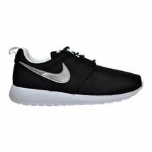 Nike Air Roshe One (GS) Big Kid's Shoes Black-Metallic Silver-White 599728-021 - $71.95