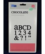 "QuicKutz CHOCOLATE All-on-One Mini Unicase Alphabet Die Set, 4"" x 8""  BR... - $24.49"