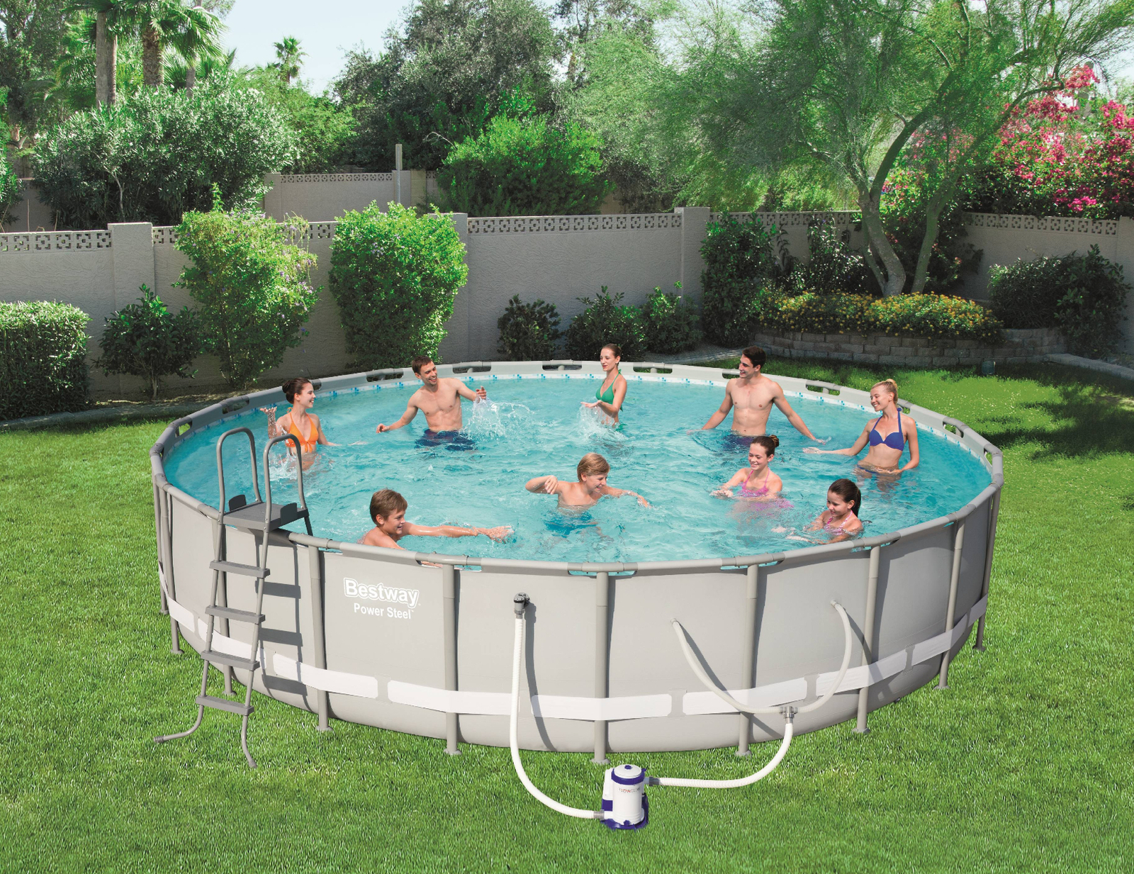 "Bestway Power Steel 14' x 42"" Frame Swimming Pool Set - Ready to Ship"