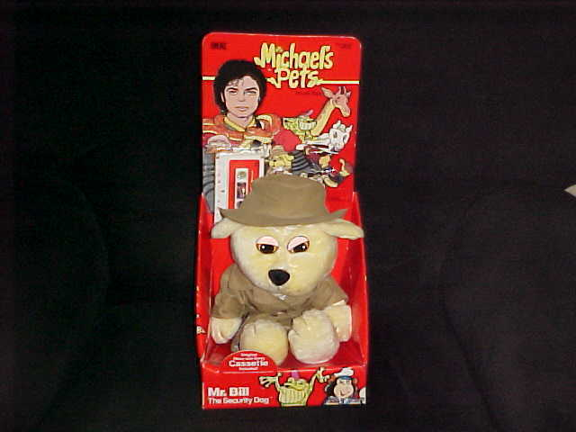 Michael Jackson Pets Mr. Bill Security Plush Dog W/Box & Cassette Bonus Letter