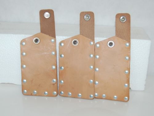 3 Burgess AT7375 Large Chipper Guard Leather Pouch Telecommunications