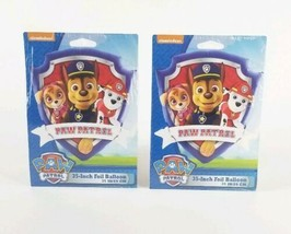 """(Lot of 2) Nickelodeon 35"""" Paw Patrol Shape Foil Balloon Refillable with Helium  - $10.88"""
