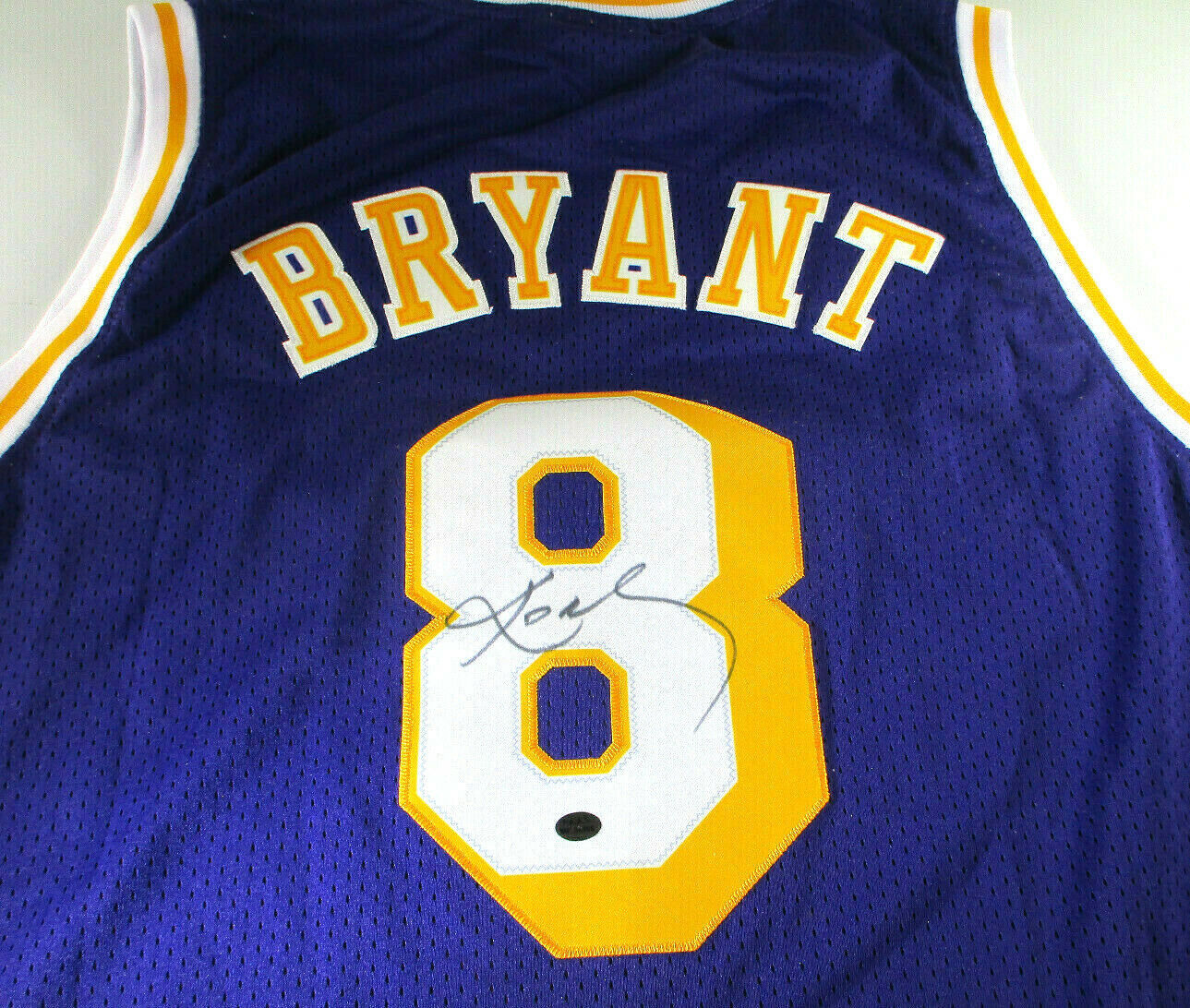 KOBE BRYANT / AUTOGRAPHED LOS ANGELES LAKERS THROWBACK BASKETBALL JERSEY / LOA