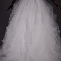 WHITE Detachable Tulle Skirt White Tulle Bridal Skirt High Waisted Wedding Skirt image 8