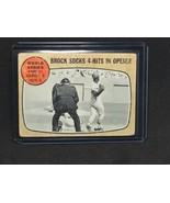 1968 TOPPS #151 LOU BROCK SOCKS 4-HITS IN OPENER VG CARDS *FBGCOLLECTIBLES* - $9.49