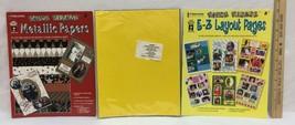 Paper Pizazz E-Z Layout & Metallic Pages Acid-Free Scrapbook Frames Lot of 3 NOS - $9.85