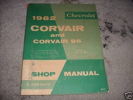 1962 Chevrolet Corvair Corvair 95 Service Shop Manual Supplement OEM GM WORN 62 - $9.85