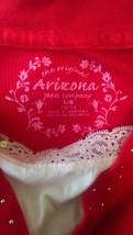Girls 14/16 Arizona red and white shirt ras292 - $10.84