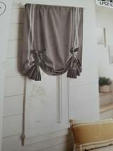 Threshold Light Filtering Gray Striped Balloon Shade Curtain NEW - $21.77
