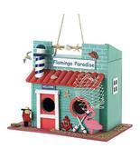 Tolbsplace Birdhouses Flamingo Paradise Decorative Birdhouse w/Lighthous... - $22.87