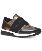 Michael Kors MK Women's Chain Mesh Trainers Shoes Sneakers Black/Bronze/Silver