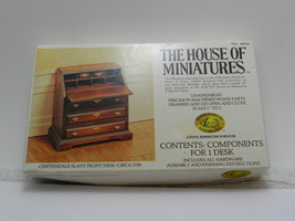 THE HOUSE OF MINIATURES CHIPPENDALE SLANT FRONT DESK-#40042-Unassembled - $9.89