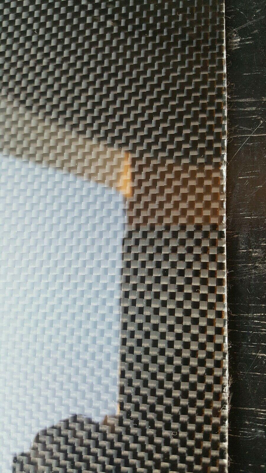 """12/""""x30/""""x1//16/"""" 2x2 Twill Carbon Fiber Fiberglass Plate Sheet Glossy One Side"""