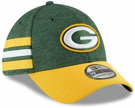 GREEN BAY PACKERS New Era 39THIRTY 2018 SIDELINE Baseball Hat Flex Fit M... - $24.74