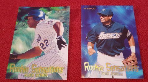 1997 Fleer Rookie Sensations Lot Of 2 Cards: #9 Alex Ochoa & #12 Bob Abreu