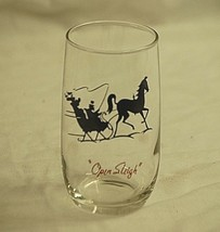 Gay Nineties Roly Poly Clear Anchor Hocking Drinking Glass Horse w Open ... - $12.86