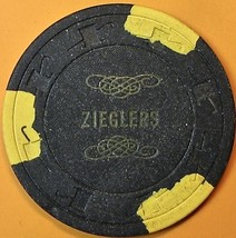 $20 Vintage Casino Chip. Zieglers Rendezvous, Stockton, CA. 1950s. Q17. - $29.50
