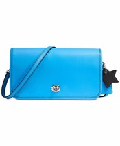 NWT COACH TURNLOCK GLOVETANNED LEATHER CROSSBODY BAG AZURE BLUE - €91,60 EUR