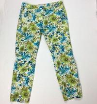 Ann Taylor Loft Capri Marisa Pants Size 6 Floral Print Cotton Blend - $13.86