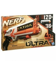 NEW Nerf Ultra Four Blaster Includes 4 Official Nerf Darts Advanced Design...  - $19.34