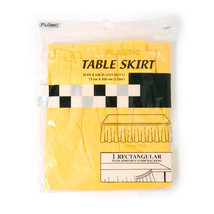 """29"""" x 168"""" Citrus Yellow Table Skirt/Case of 36 - $121.01"""