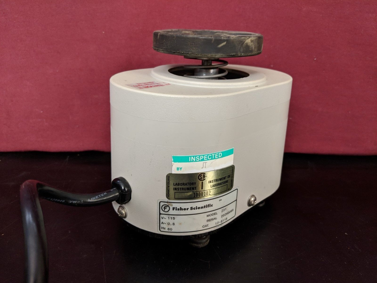 Fisher Scientific Variable Speed Vortex Touch Mixer Model 231 / TESTED