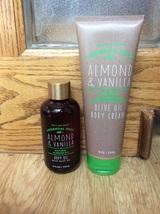 Set of 2 Bath & Body Works ALMOND VANILLA Olive Oil Body Cream 8 oz Oil ... - $473,63 MXN