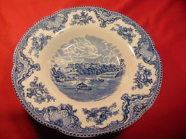 "8 3/4"" Dia, Rim Soup Bowl, Johnson Bros., Old Britain Castles, Blue Pattern - $19.99"