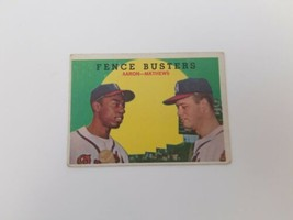 1959 Topps Fence Busters #212 Hank Aaron Eddie Mathews Baseball Card VgEx  - $19.34