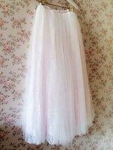 White Tulle Lace Maxi Long Skirt White Wedding Tulle Skirt 4XL Plus Size image 5