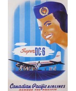 Super DC-6 Canadian Pacific Airlines across the Pacific - Framed Picture... - $32.50