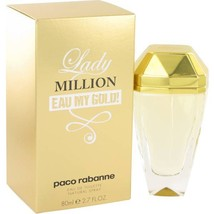Paco Rabanne Lady Million Eau My Gold 2.7 Eau De Toilette Spray image 1